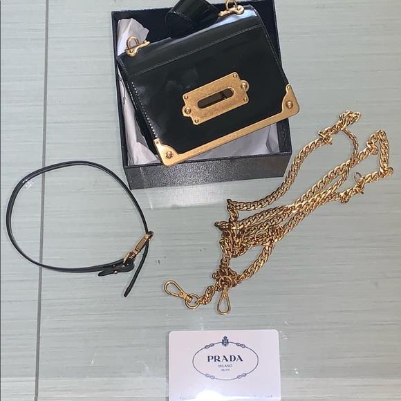 d75cbf0724f7 Prada Bags | Cahier Patent Leather Minibag | Poshmark